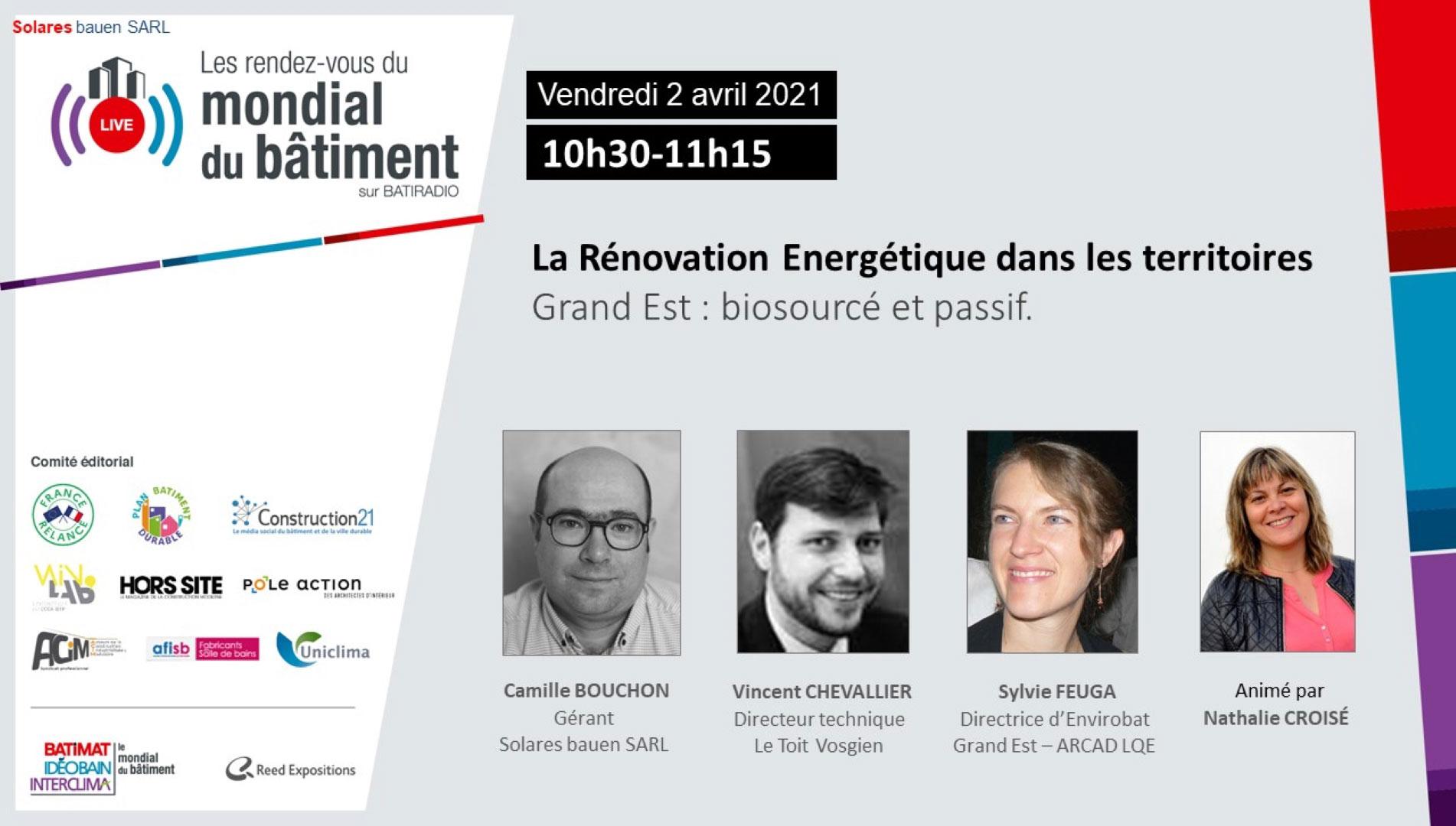 Rénovation énergétique RDV du Mondial
