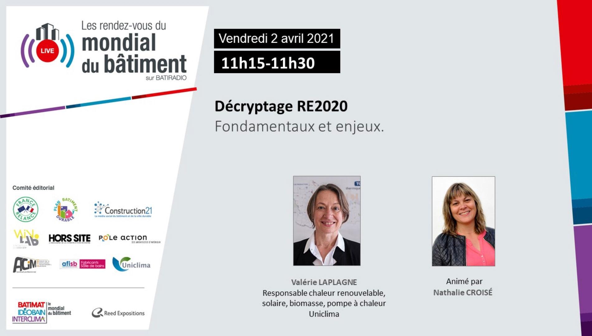 Décryptage RE2020 RDV du Mondial